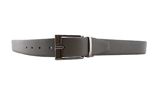 Armani Jeans belt with buckle man leather Grey/Black
