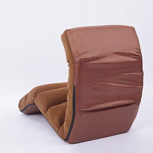 Sofa chair Lazy Couchboden Stuhl Tatami Einzelne Japanische Sonnenliege,Dunkler Kaffee,175 * 56 * 20...