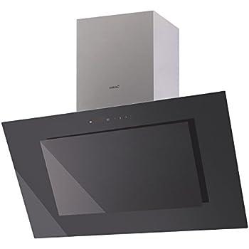 luxus dunstabzugshaube 70cm kopffrei edelstahl wandhaube mit schwarzglasfront kopffreihaube. Black Bedroom Furniture Sets. Home Design Ideas