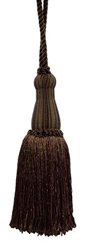 DecoPro décoratifs 14 cm Key Tassel, Chocolat Chaud, Style # Ktc055 Couleur : Sable - Marron - E29