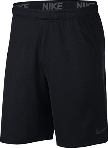 Nike dry, pantaloncini uomo, nero/dark grigio, l