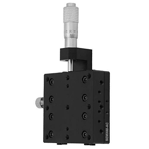 Shumo Lineartisch SEMX60-AC X, X-Mikrometer Manuelle Pr?Zision Linearverschiebung Tisch Verschiebung Plattform Lineartisch Schiebetisch mit X-Achsen