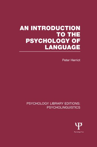 Introduction To Psycholinguistics Pdf