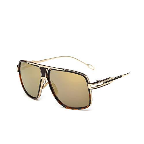 Sportbrillen, Angeln Golfbrille,New Style NEW Sunglasses Men Brand Designer Sun Glasses Driving Oculos De Sol Masculino Grandmaster Square Sunglass 5-Gold-Gold