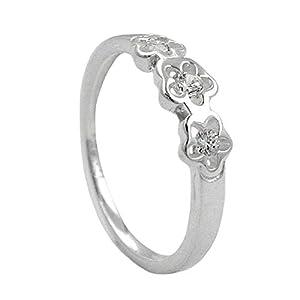 Dreamlife Ring Blumen Zirkonias Silber 925 Ringgröße 50