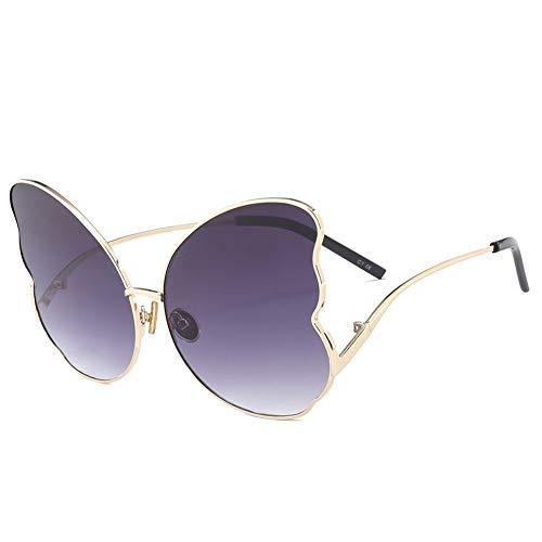 Thirteen Polygonale Sonnenbrille Frauen, Schmetterlingsförmige Brille, UV400 Geeignet Für Dekoration, Sonnenschutz, Reisen Im Freien, Einkaufen, Reisen, Fahren (Color : A)