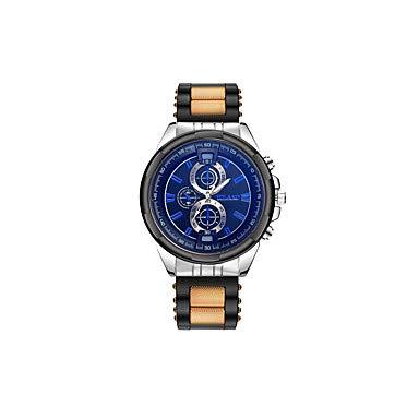 XKC-watches Herrenuhren, Herrn Paar Armbanduhren für den Alltag Modeuhr Quartz Schwarz/Silber Armbanduhren für den Alltag Analog Luxus Freizeit - Grau Gelb Rot (Farbe : Gelb)