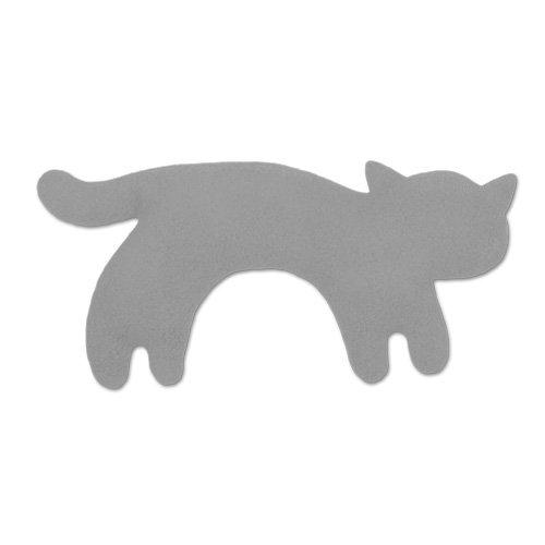 Leschi Wärmekissen - 36477 - Die Katze Minina - stehend - klein (Wärmekissen für Babys und Kleinkinder) Farbe: Nebel / Mitternacht