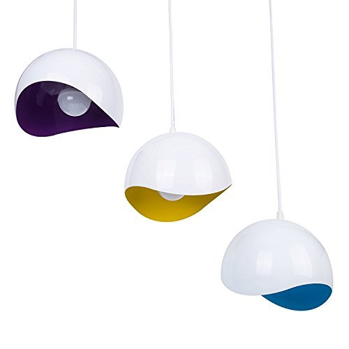Maxmer 3-flammig Hängelampe LED Pendelleuchte Esstischlampe Weiß für Wohnzimmer, Schlafzimmer, Esstisch, Bar, Cafe und Restaurant usw.(3*E14 LED Glühbirne enthalten)