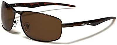 New X-loop polarizadas hombres Rectángulo deporte conducción gafas de sol Negro Marrón humo lente Full UV400UVA protección libre beachhutsunglasses bolsa de microfibra incluido