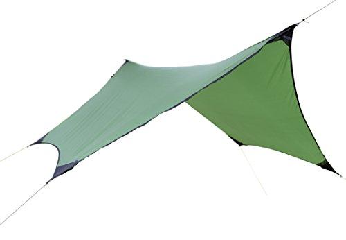 Umi. Essentials Hex Fly Abdeckplane, sechseckig, 340x330cm, wasserfest, inkl. Heringen, Seilen...