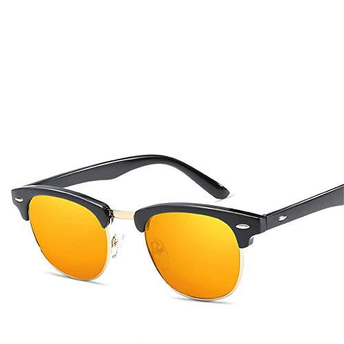 MJ Glasses Sonnenbrillen Mi Nagel polarisierte High-End-Männer und Frauen Anti-UV-Brille Retro, C