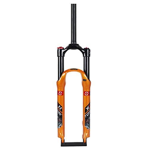 Unbekannt Federgabel MTB Fahrrad 26 Zoll 27,5 Zoll Air Gabel Luftstoßdämpfer 1-1/8