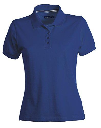 Damen Polohemd Venice 100% Baumwolle kurzarm 4 Knöpfe Nackenband, Farbe:navy;Größe:M