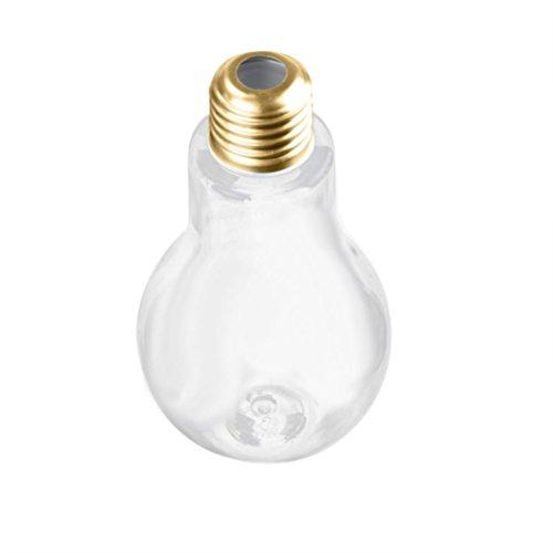 Party Dinner Supplies,TUDUZ Bulb Wasserflasche Brief Niedlich Milch Saft Glühbirnen Tasse Dicht Getränkebecher (Gold, 100ML) (Weihnachts-dinner-set)