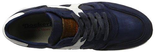 Dockers by Gerli Herren 40br001-207 Low-Top Blau (navy/weiss 665)