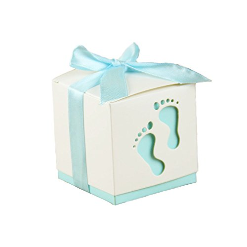 Lance Home® 50 Stück Hochzeit Taufe Gastgeschenk Geschenkbox Kartonage  Schachtel Tischdeko Bonboniere Box Hochzeit Dekoration Baby Shower  Bonboniere Box ...