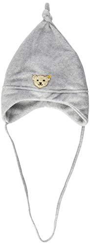 Steiff Unisex - Baby Mütze 0006865, Einfarbig, Grau (Steiff Softgrey Melange 8200), Large (Herstellergröße: 49)