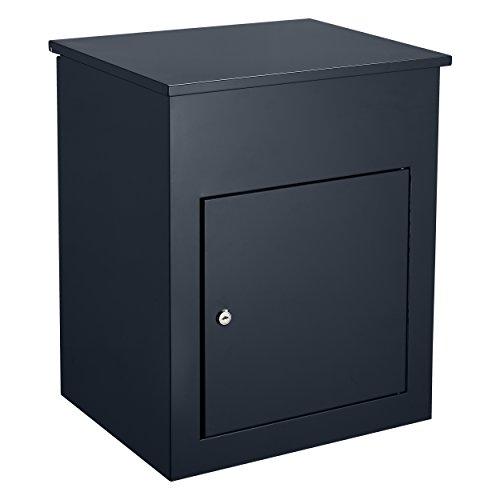 Harima Parcel Drop Box | Eingehende Lieferungen Erhalten, wenn Niemand zu Hause ist | Große Wasserdichte Abschließbare Sichere Paketbox | 43,7 x 34,6 x 58 cm | Briefkasten mit Paketfach | Schwarz