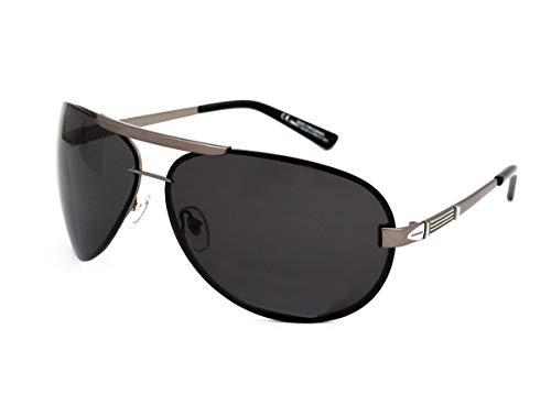 Roberto Marco Pilot XL polarisierte Sonnenbrille für Fahrer, große Größe, keine blendenden grauen Gläsern