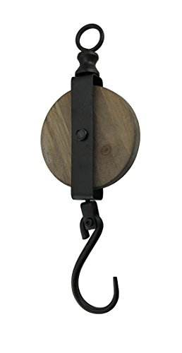 Special T Imports Medium Decorative Pulley Hook 14.5 Inch