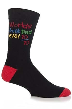 homme, fête des pères, chaussettes amusantes, 39-45 eur, meilleur papa des mondes jamais! (worlds best dad eva)