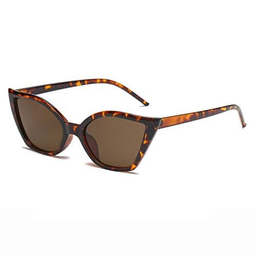 MWPO Sonnenbrille Katzenauge Persönlichkeit Frau Fotografie Fahren Einkaufen Reise Kleidung Kollokation mit Einer klassischen Anti-UV-Brille im Freien (Farbe: Schildpatt-Rahmen Braune Linse)