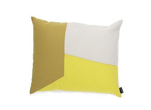 Normann Copenhagen 602352 Angle Kissen, Baumwolle-Mischgewebe, gelb, 60 x 60 x 50 cm
