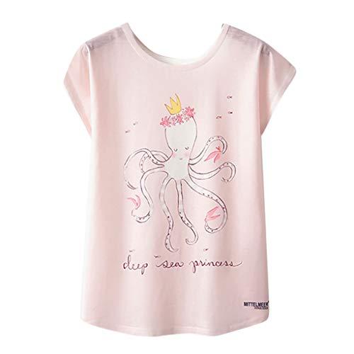 6d247f8b Lazzboy T-Shirt Women Graffiti/Print/Animal/Flower Short Sleeve O Neck