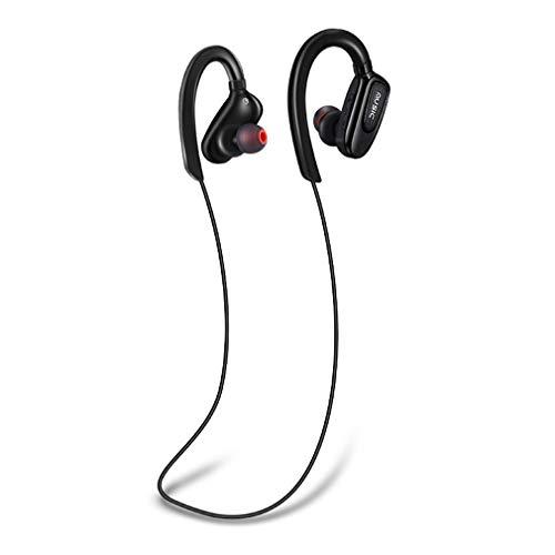XUNMAIF BTE Bluetooth Kopfhörer,3D Stereo In-Ear Ohrhörer mit CVC 6.0-Rauschunterdrückung,Anschluss für 2 Mobiltelefone Gleichzeitig 12 Stunden Spielzeit für das Radfahren im Fitnessstudio, Black