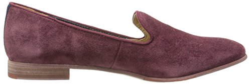 Sebago Women's Hutton Smoking Flat Slip-On Loafer, Wine Suede, 10 M US Wine Suede