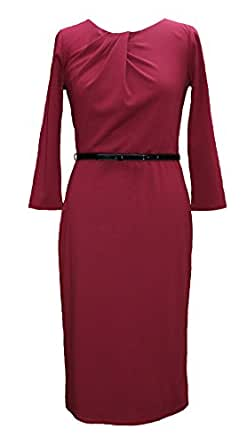 LAURA ASHLEY DARK RED TUNIC DRESS (8)