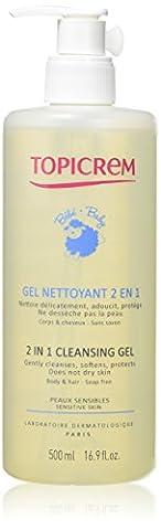 Topicrem Gel Nettoyant Corps et cheveux 2-en-1 pour Bébé 500 ml