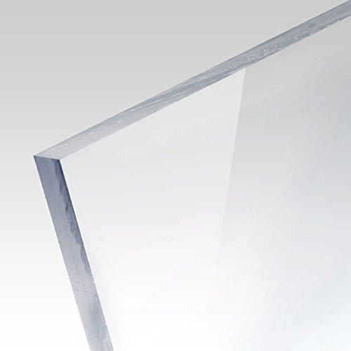 PLEXIGLAS® einseitig kratzfest farblos transparent geeignet für Treppengeländer, Küchenrückwände; Maße: 25 x 25 x 0,8 cm -