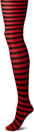 Kostüm Playboy Weihnachtsmann (Leg Avenue 7100 - Blickdichte Ringel-Strümpfhose Kostüm Damen Karneval, Einheitsgröße,)
