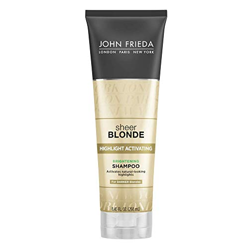 John Frieda Sheer Blonde Highlight Activating Enhancing Shampoo (for Darker Blondes) , 8.45 Ounces (Pack of 2) by KAO Brands [Beauty] (English Manual)