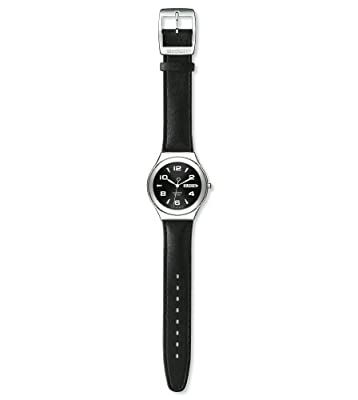 Reloj de caballero Swatch CORE COLLECTION FEATURE STEEL YGS737 de cuarzo, correa de piel color negro de Swatch
