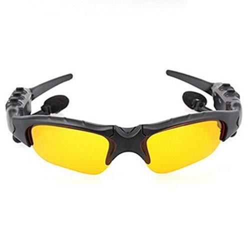 Bluetooth Brille 4.1 Stereo Headset Bluetooth Brillen Kopfhörer Falten und Portable (Farbe : Gelb)
