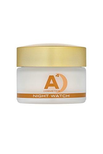 A4 - NIGHT WATCH Anti-Aging Nachtcreme | Creme | Gesichtscreme | Nachtpflege mit eco-zertifziertem Arganöl (50ml)