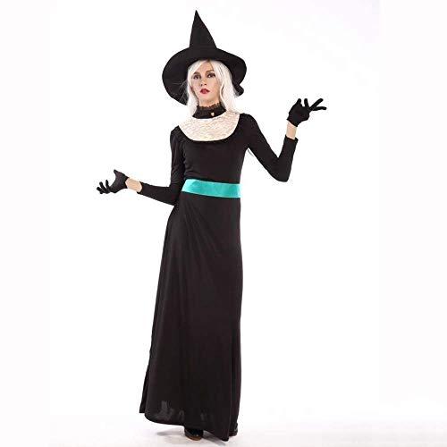 Langes Kleid Erwachsene Halloween Hexe Kostüm Weihnachten Karneval Kleidung Fantasia Infantil Kostüm Vampire Cosplay ()