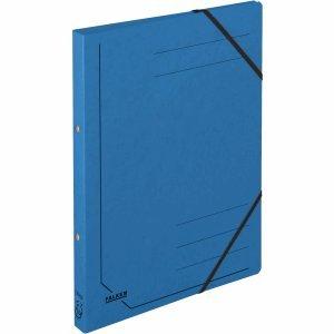 5 x Falken Ringhefter A4 Colorspan-Karton 355g/qm 2-Ring-Mechanik blau