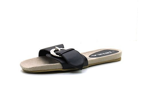 Ibiza-sandales pantolette-chaussures pour femme Noir - Noir