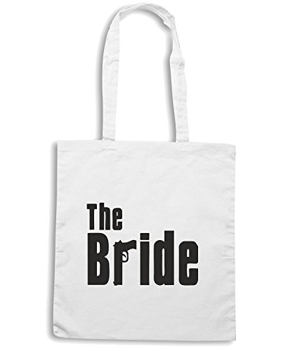 T-Shirtshock - Borsa Shopping OLDENG00268 the bride mafia Bianco