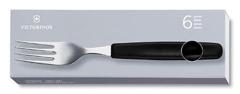 Victorinox 5.1543 Jeu de fourchettes de table 6 pièces Noir