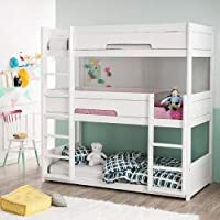 Alfred & Compagnie Triple Bunk Bed + 3 Comfort Mattresses
