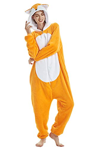 Crazy lin Unicorn Karikatur Overalls Pyjama Nachtwäsche Nacht Kleidung Dress Up, Maskerade Partei Kostüme (XL, ()