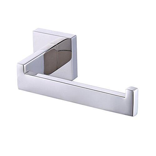 KES baño serie de acero mate Portarrollos de papel higiénico sin tapa, cromado a la pared montaje, a2570