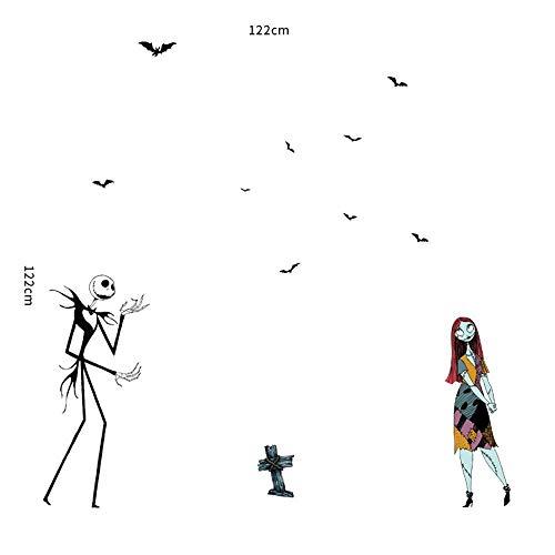 Gruselige Zombie Liebe Halloween Wand Aufkleber Persönlichkeit schmücken Horror Wandtattoo 30 * 90cm ()