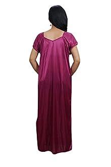 4a504f095fc Indiatrendzs Women Maxi Night Gown Pink 2pc Set Honeymoon Nighty With Robe