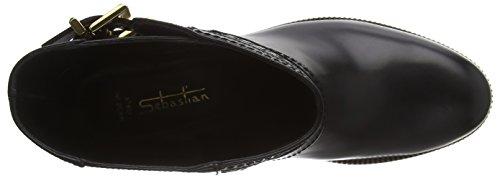 Sebastian  S6828 A/18, Bottes Classics courtes, non doublées femmes Noir - Schwarz (vitello nero)